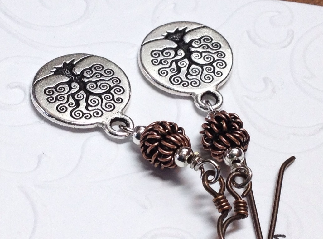 Tree Of Life Coin Earrings, Engraved Tree, Celtic Tree ...